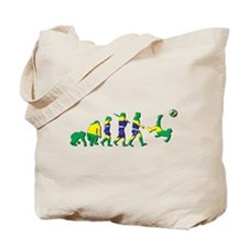 Evolution of Brazil Football Tote Bag