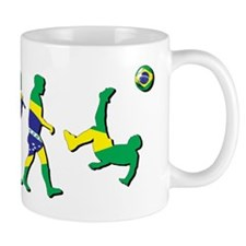 Evolution of Brazil Football Mug