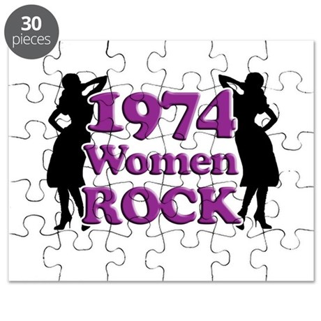 40th Birthday Gifts, 1974 Women Rock Puzzle
