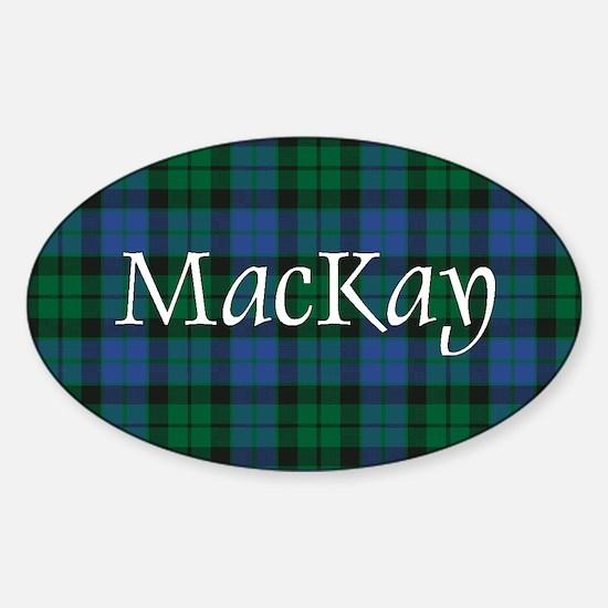 Tartan - MacKay Sticker (Oval)