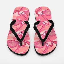 Pink Flamingo Pattern 2 Flip Flops