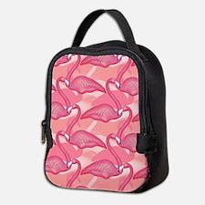 Pink Flamingo Pattern 2 Neoprene Lunch Bag
