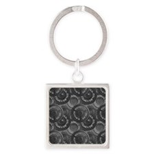 Barbell Weight Lifting Pattern 3 Keychains