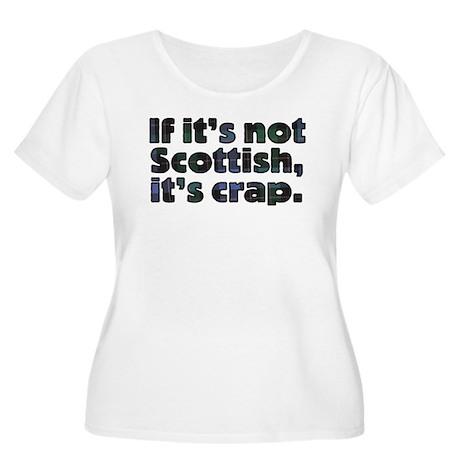 Scottish Women's Plus Size Scoop Neck T-Shirt