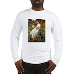 Windflowers & Black Lab Long Sleeve T-Shirt
