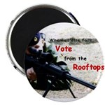 Vote from Rooftops Magnet