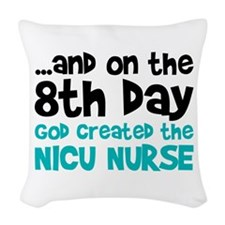 NICU Nurse Creation Woven Throw Pillow