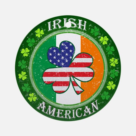 Irish American Ornament (Round)
