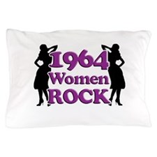 50th Birthday Gifts, 1964 Women Rock Pillow Case