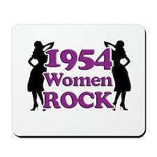 60th Birthday Gifts, 1954 Women Rock Mousepad