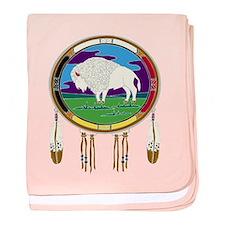 White Buffalo baby blanket