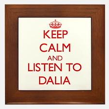 Keep Calm and listen to Dalia Framed Tile