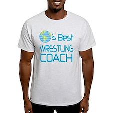 Earths Best Wrestling Coach T-Shirt
