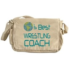 Earths Best Wrestling Coach Messenger Bag