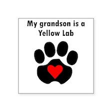 My Grandson Is A Yellow Lab Sticker