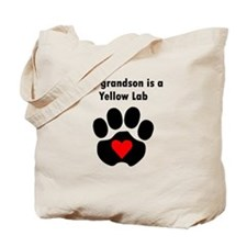 My Grandson Is A Yellow Lab Tote Bag