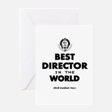 Best Director in the World Greeting Cards