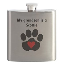 My Grandson Is A Scottie Flask