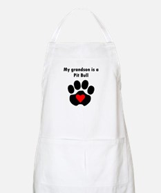 My Grandson Is A Pit Bull Apron