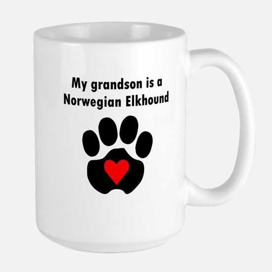 My Grandson Is A Norwegian Elkhound Mugs