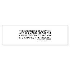 quote_gandhi_greatness_white Bumper Bumper Sticker