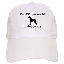 85 birthday dog years doberman 2 Baseball Baseball Cap