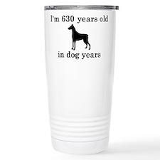 90 birthday dog years doberman 2 Travel Mug