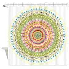 Bright Blessings Mandala Shower Curtain