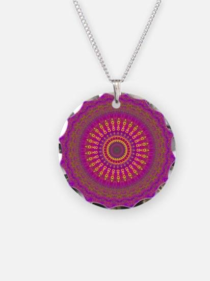Bright Blessings Mandala Necklace Circle Charm