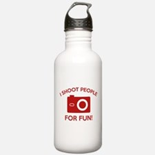 I Shoot People For Fun Water Bottle