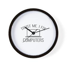 Trust Me, I Fix Computers Wall Clock