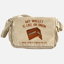 My Wallet Is Like An Onion Messenger Bag