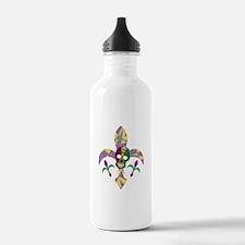 Fleur de lis Skull Water Bottle