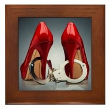 HEELS AND HANDCUFFS Framed Tile