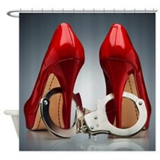 HEELS AND HANDCUFFS Shower Curtain