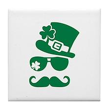 Irish sunglasses mustache Tile Coaster