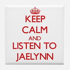 Keep Calm and listen to Jaelynn Tile Coaster