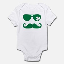 Shamrock sunglasses mustache Infant Bodysuit