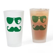 Shamrock sunglasses mustache Drinking Glass