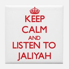 Keep Calm and listen to Jaliyah Tile Coaster