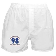 98 year old birthday designs Boxer Shorts