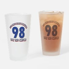 98 year old birthday designs Drinking Glass