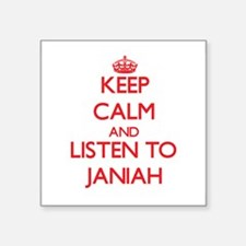 Keep Calm and listen to Janiah Sticker