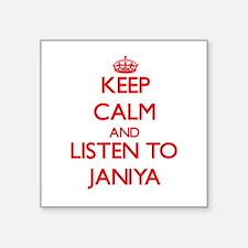 Keep Calm and listen to Janiya Sticker