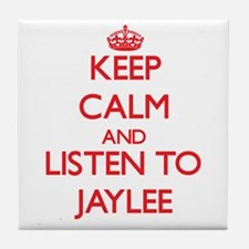 Keep Calm and listen to Jaylee Tile Coaster