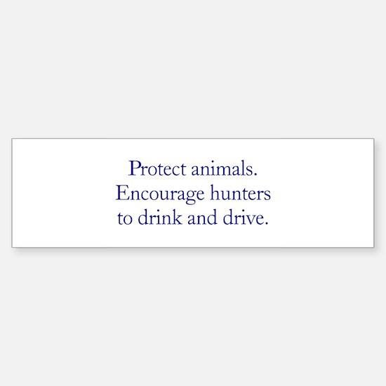 Protect Animals Bumper Car Car Sticker