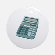 Math Equations Calculator Ornament (Round)