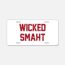 Wicked Smaht Aluminum License Plate