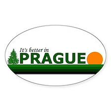 Its Better in Prague, Czech R Oval Decal