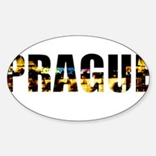 Prague, Czech Republic Oval Decal